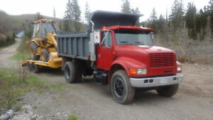dump truck, float and backhoe for sale