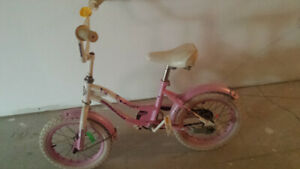 14 INCH, GIRL'S BIKE IN GOOD CONDITION