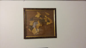 Hand crafted wood Africa wall piece picture for sale
