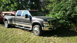 2008 FORD F-450 CREW CAB LARIAT DIESEL 4X4, SUNROOF WITH 5 W