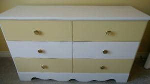 Double Headboard. With Matching Drawers