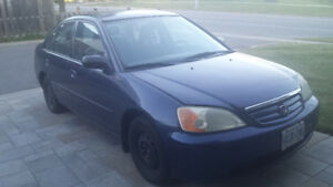 2003 HONDA CIVIC WITH  E-TEST, AS IS GOOD CONDITIONS