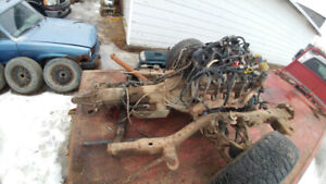 99 chevy trans/tcase/front diff.