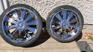 TSW 22 inch chrome rims with tires!!!