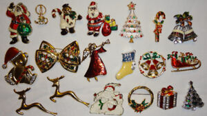 Assorted CHRISTMAS Brooches Pins  $3.00 EACH