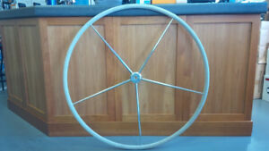 """40"""" Edson Stainless Destroyer Steering Wheel (consignment)"""