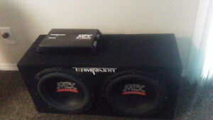 """Terminator 12"""" subs and amp"""