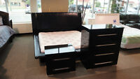 King Leather Bedroom Set