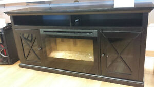 Media Console w/ fireplace insert