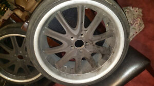 20 inch 5 lug boss rims!! $400!!! W/Tires