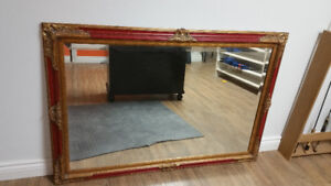 Large Red and Gold Mirror