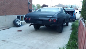 1972 chevelle shell and frame project asking  $4000