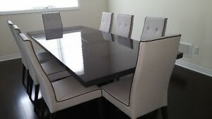Elegant Carlyle 8 Chair Dining Table Set from Mobilia
