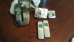3 home phones and answering machine
