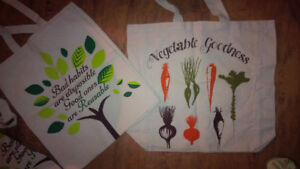 Perfect New 6 Shopping Cotton Bags - for sale !