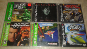 6 Playstation ps1 games mint condition no scraches