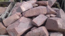 Red Sandstone Walling Blocks *Rockery *