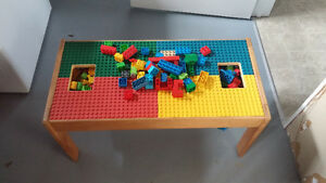 Megablok table w/ blocks