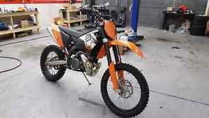 2008 ktm xcw xc-w 250 two stroke cash or trade for sled Edmonton Edmonton Area image 1