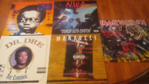 Records for sale $20 each- Iron Maiden, NWA, Tupac, Nas, Dr. Dre