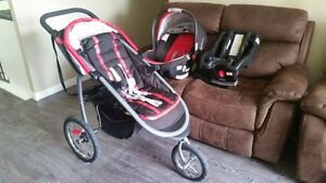 Graco fold jogger stroller with car seat