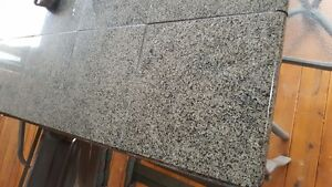 Large outdoor patio set with granite counter top