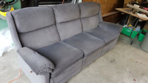 Flexsteel Reclining Sofa + Chair + Leather Chair