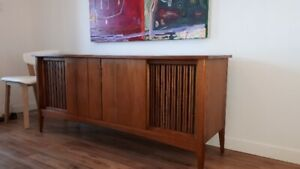 Solid Walnut Stereo console