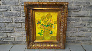 OIL ON CANVAS VAN GOGH SUNFLOWERS PAINTING