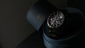 Citizen Eco-Drive Atomic Timing AT4007-54E Black ***Mint***