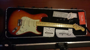Like New 2013 Ash Fender Strat Deluxe Aged Cherry Burst+OHSC+CoA London Ontario image 1