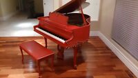 _____Unique antique coral with gold accents piano