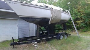 Boat trailer for sailboats