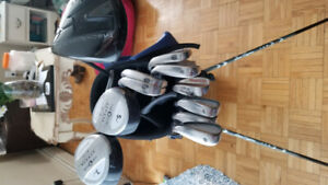 Golf set: nike sasquatch driver, taylormade r5 irons with bag