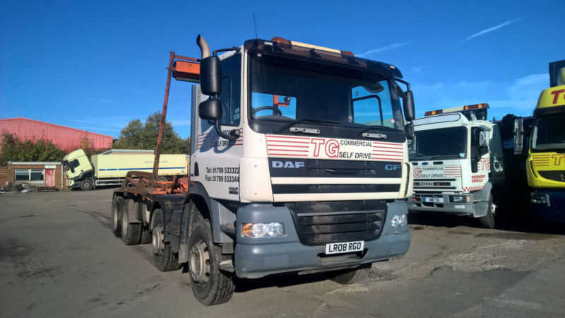 DAF TRUCKS CF 85 410 ENGINE, 8X4 HOOK LOADER