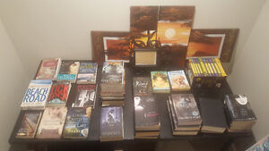 Books for sale. Stacks are series'.