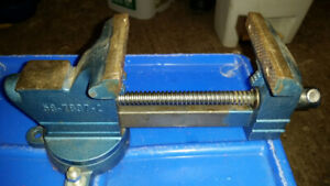 "MACHINIST VISE # 58-7837-2  3 1/2"" JAWS OPENS TO 4 1/4""  SWIVEL"