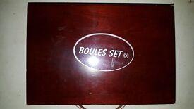 Set of 6 chrome balls and jack (Boules set)