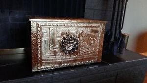 GORGEOUS Vintage Brass Kindling / Blanket / Storage Box