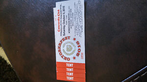 4 TICKETS to OKTOBERFEST TICKETS CONCORDIA CLUB HALF PRICE