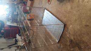 X large steel dog crate