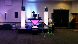 CUSTOM DJ BOOTH WITH BUILT IN LED - 3 PIECES