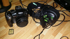 Camera and headset