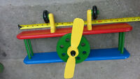 ► Old Propeller Airplane Wall Shelf ( Handmade and Painted )