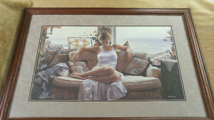 """Steve Hanks  """"To Search Within"""" - Paper - Framed - 28x16 LE AP"""