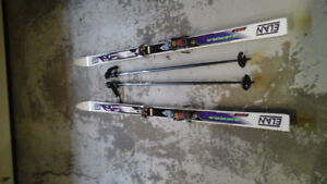 Skis, bindings & poles