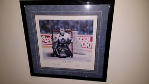 """The Cat"" print of Felix Potvin signed by Daniel Parry"