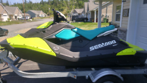 2018 Seadoo Spark with double trailer
