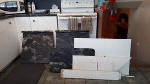 counter top and cabinet ends