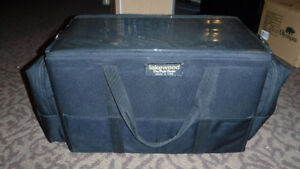 MUSKY FISHING LURE TACKLE BOX= WITH 3 LARGE LURE TRAYS